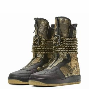 Nike SF Air Force 1 AF1 Realtree Black Camo Boots